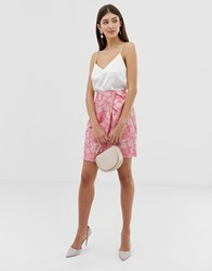 Closet Wrap Pleated Skirt Pink