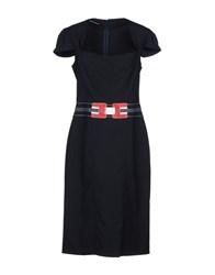 Roccobarocco Knee Length Dresses Dark Blue