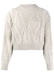 Iro Cable Knit Jumper Neutrals