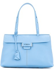 Myriam Schaefer Mini Lord Shoulder Bag Blue