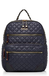 M Z Wallace Mz Crosby Quilted Oxford Nylon Backpack Blue Dawn