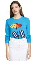 Chinti And Parker Sunbed Cashmere Sweater Turqoise Multi
