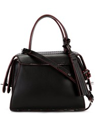 Tod's Small Piped Tote Black