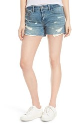 Treasure And Bond Women's Destroyed Cutoff Denim Shorts