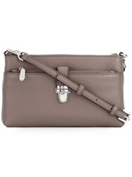 Michael Michael Kors Snap Pocket Crossbody Bag Grey