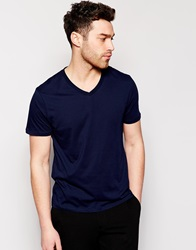Reiss V Neck T Shirt Navy