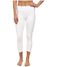 Beyond Yoga Quilted Capri Legging White Women's Casual Pants