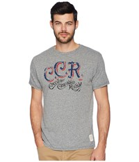 The Original Retro Brand Creedence Clearwater Revival Tri Blend Tee Streaky Grey T Shirt Pewter