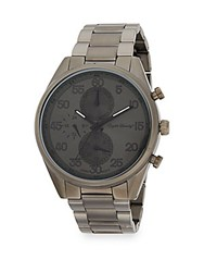 English Laundry Gunmetal Tone Stainless Steel Bracelet Watch