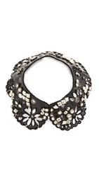 Marc Jacobs Daisy Leather Collar Black Multi
