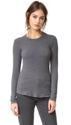 James Perse Brushed Jersey Top Heather Charcoal