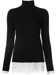 Joie Lace Detail Pullover Black