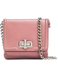 Lanvin Mini 'Happy' Crossbody Bag Pink And Purple