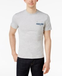 Original Penguin Men's Slim Fit Floral Welt Pocket T Shirt Mirage Gray