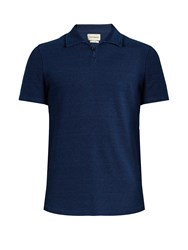 Oliver Spencer Hawthorn Polo Shirt Indigo