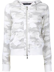 Loveless Camouflage Drawstring Hoodie Women Cotton 34 White