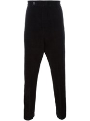 Rick Owens Velvet Trousers Black