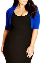Plus Size Women's City Chic 'Party' Knit Shrug