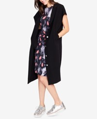 Rachel Roy Cap Sleeve Cocoon Kimono Created For Macy's Black