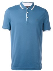Michael Kors Contrast Trim Polo Top Blue