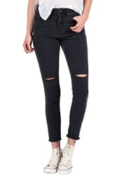 Junior Women's Volcom Distressed High Waist Ankle Skinny Jeans