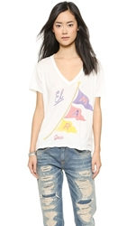 Sol Angeles El Mar V Neck Tee White