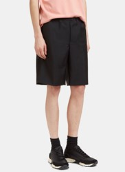 Acne Studios Ari Wool Shorts Black