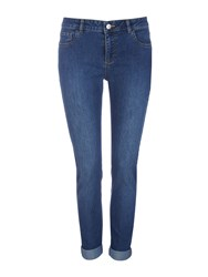 Wallis Petite Denim Roll Up Jean Denim Faded