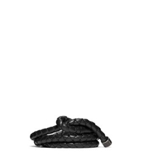 Michael Kors Braided Leather Belt Chocolate