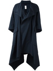 Maticevski Asymmetric Oversized Coat Blue