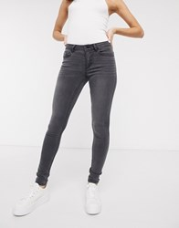 Only Ultimate High Rise L32 Skinny Jeans In Grey