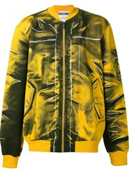 Moschino Trompe L'oeil Bomber Yellow And Orange