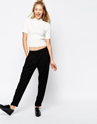 Monki Soft Trouser Black