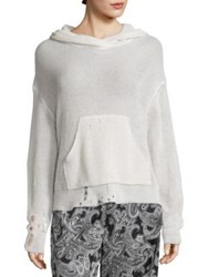 Acne Studios Amelie Hooded Pullover Off White