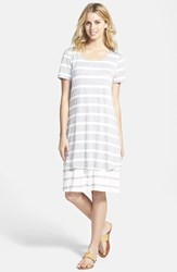 Petite Women's Pleione Double Layer Stripe Dress
