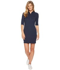 Lacoste 1 4 Sleeve Classic Stretch Mini Pique Polo Dress Navy Blue
