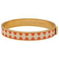 Halcyon Days Agama Hinged Bangle Orange Cream