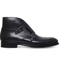 Magnanni Vadal Double Buckle Leather Boots Black