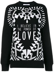 Givenchy I Believe In The Power Of Love Sweatshirt Black