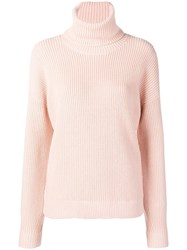 Tory Burch Turtle Neck Jumper Pink And Purple