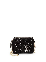 Deux Lux Atlantis Studded Mini Messenger Bag Black