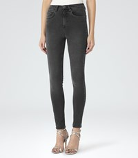 Reiss Helvin High Rise Skinny Jeans In Grey Womens