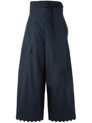 See By Chloe Scalloped Trousers Blue