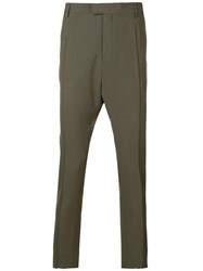 Les Hommes Drop Crotch Trousers Green