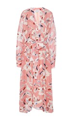 Tanya Taylor Cut Out Floral Caro Midi Dress Print