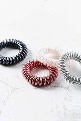 Urban Outfitters Telephone Cord Hair Tie Set Pink