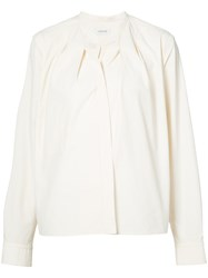 Christophe Lemaire Band Collar Shirt Women Cotton 34 White
