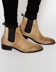 Base London Arthur Leather Chelsea Boots Beige