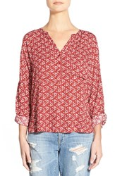Women's Ace Delivery Graphic Popover Red Leaves