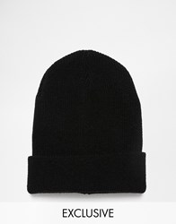 Reclaimed Vintage Oversized Beanie Black